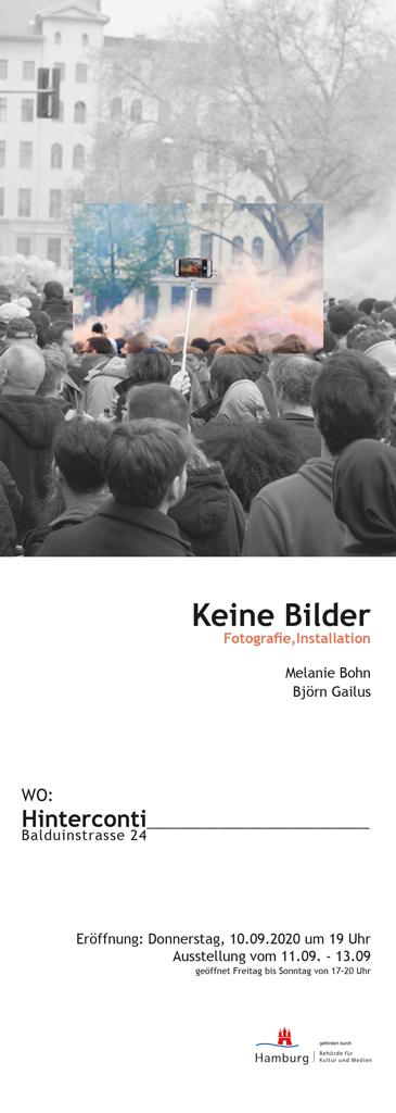 Ausstellungsflyer Melanie Bohn / Björn Gailus